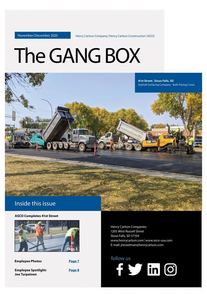 November/December 2020 Gang Box
