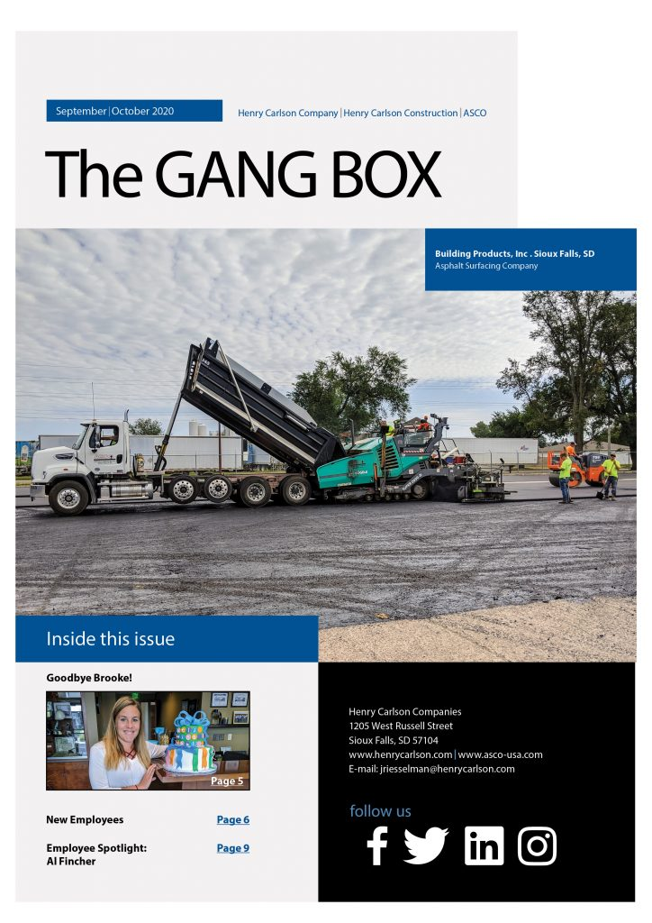 September/October 2020 Gang Box